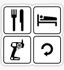 eat sleep drive repeat rc spektrum Sticker