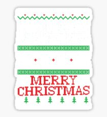 Christmas, Don't Be Tachy Ugly Christmas Sweater Sticker