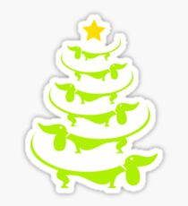 Doxie-Doxie christmas tree awesome sweater Sticker