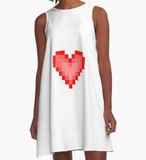 Pixel Heart A-Line Dress
