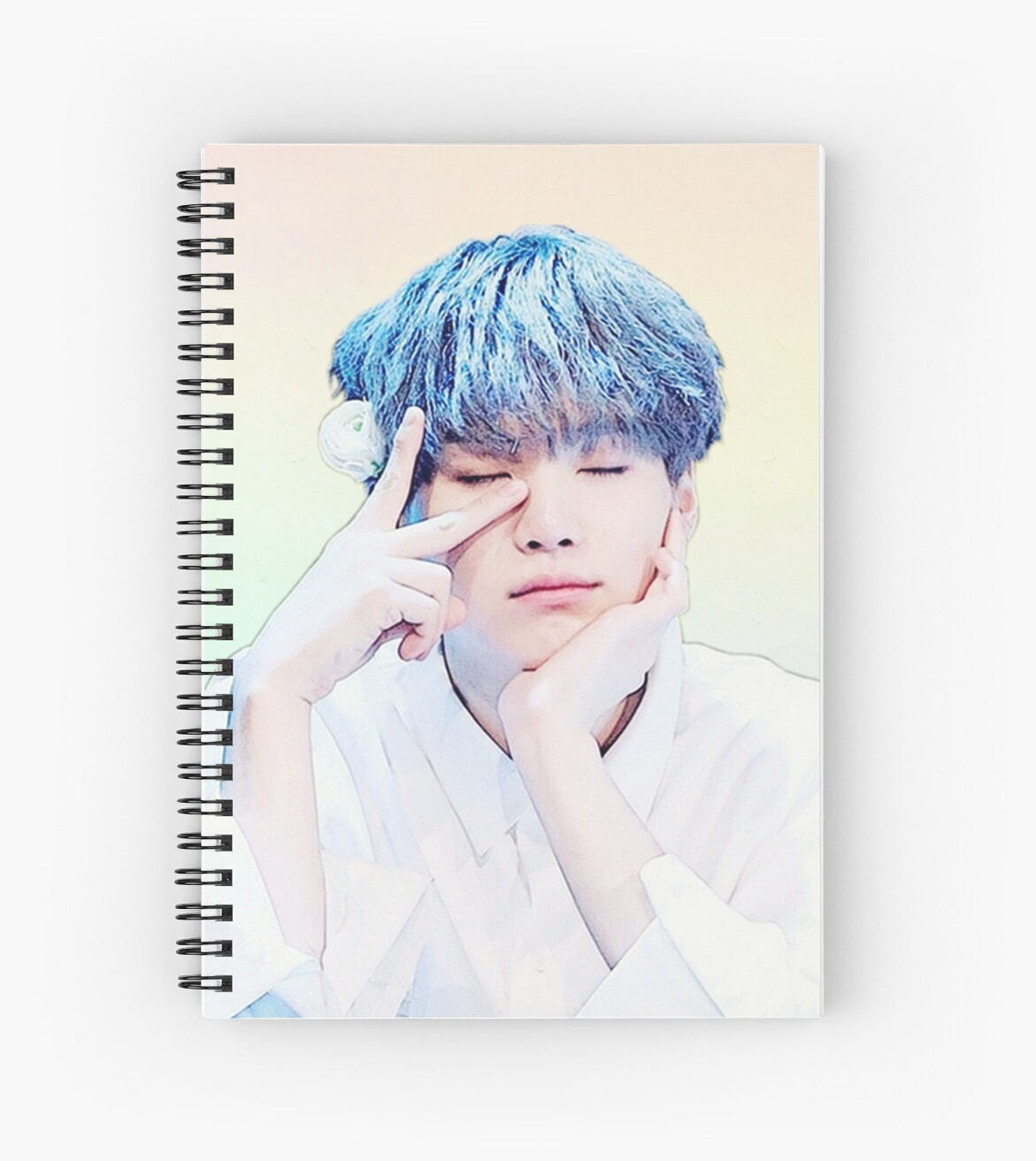 Bts防弹少年团 Cute Suga Spiral Notebooks By Roserosa Redbubble