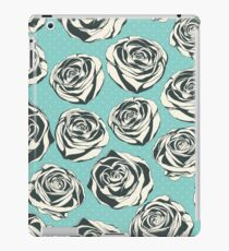 Retro floral pattern with hand drawn roses iPad Case/Skin