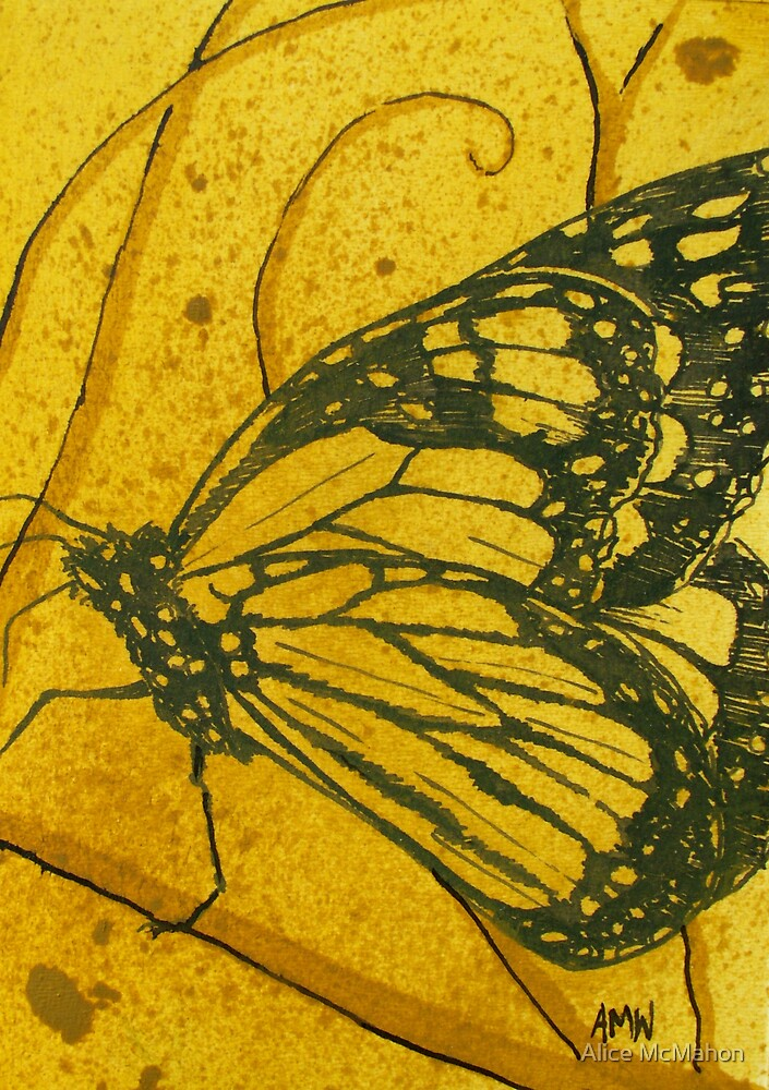 Medium Butterfly study 5 by Alice McMahon