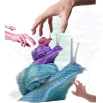 Blurred Snail by NaranjaElPesca