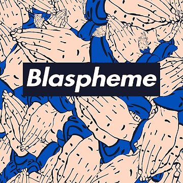 Supreme - Blaspheme (black boxlogo) by Thuggershirts