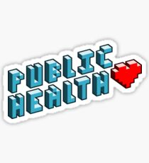 Public Health Pixels Sticker