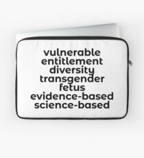 Banned Words in the USA (CDC and more) that need to be spread and fought for. Laptop Sleeve