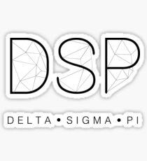 Delta Sigma Pi Geometric Sticker