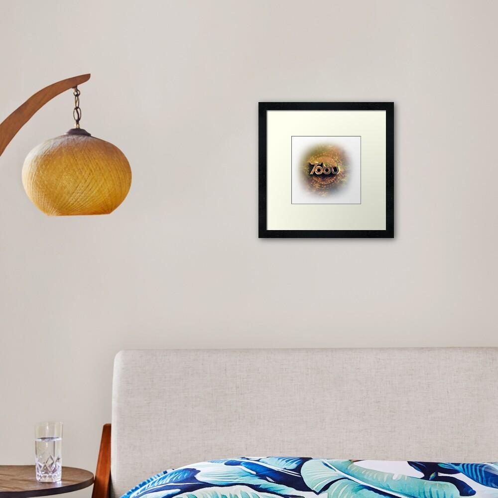 Golden Tobu Framed Art Print