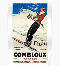 Combloux,Chemins de Fer Francias,Ski Poster Poster
