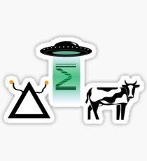Delta Sigma Pi UFO Sticker
