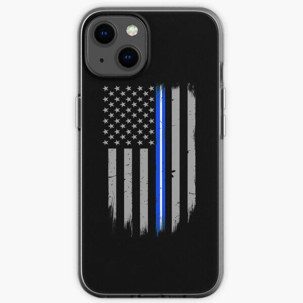Thin Blue White Line EMT Flag iPhone Soft Case