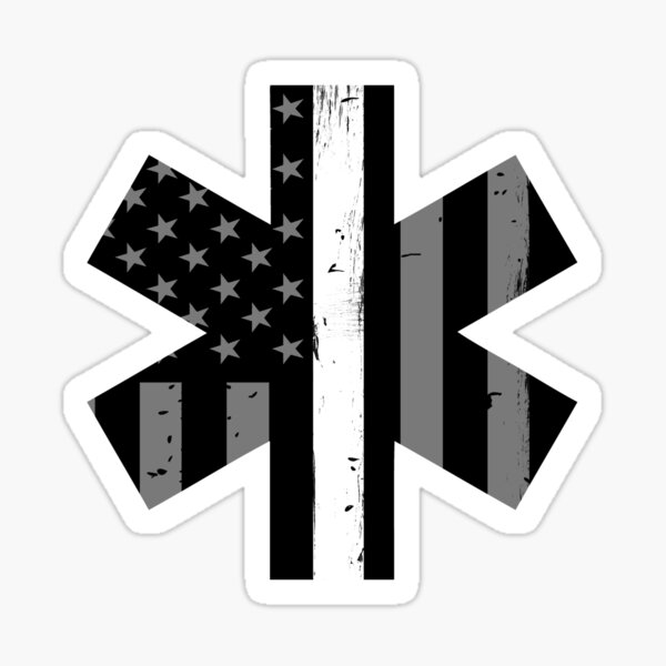 Emergency Medical Technician Supporter Flag Sticker