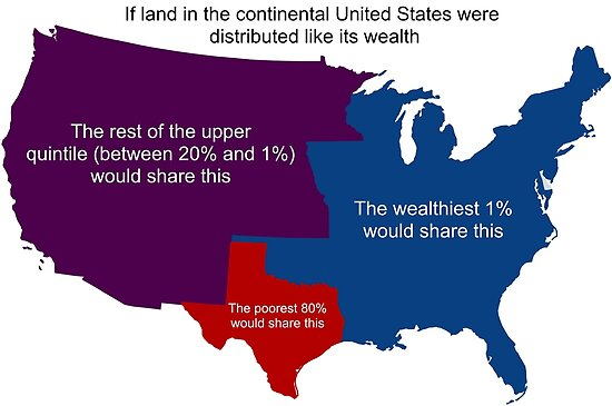 Income Inequality Map Poster By Dru1138 Redbubble - Income-map-of-us