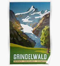 Grindelwald, Switzerland, Ski Poster Poster