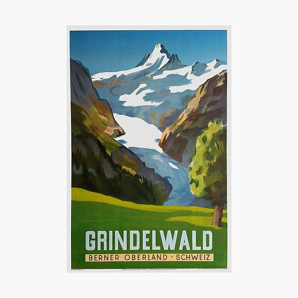 Grindelwald, Switzerland, Ski Poster Photographic Print