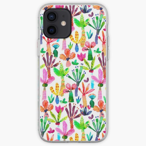 iPhone Cases Patterns Jungle tropical garden - Fun palms pattern iPhone Soft Case