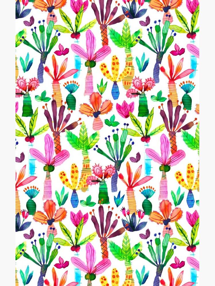 Jungle tropical garden - Fun palms pattern by ninoladesign