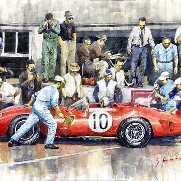 1961 Le Mans 1961 Ferrari 250 TRI Olivier Gendebien Phil Hill winner  by shevchukart