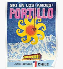 Portillo, Chile, Ski Poster Poster