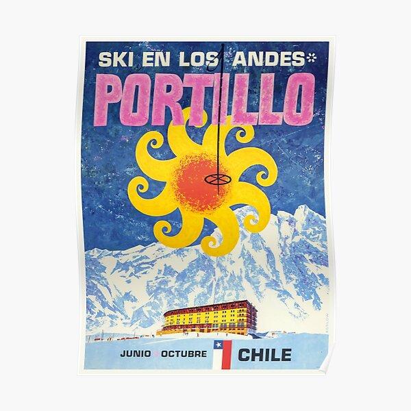 situé dans les Andes du Chili. Dans la région de Valparaíso Poster