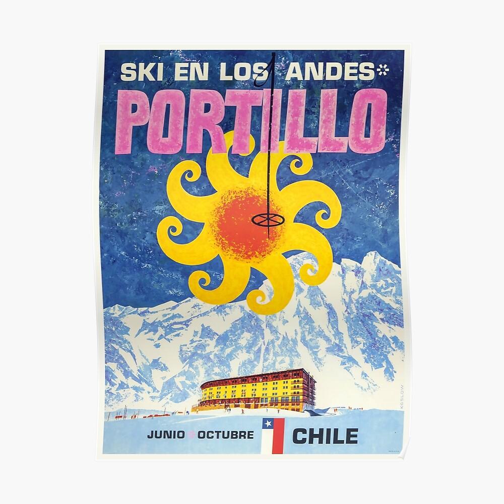 Portillo, Chile, Ski Poster Poster