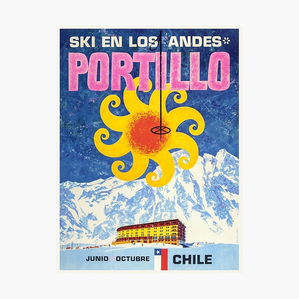 Portillo, Chile, Ski Poster Fotodruck