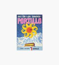 Portillo,Chile,Ski Poster Art Board