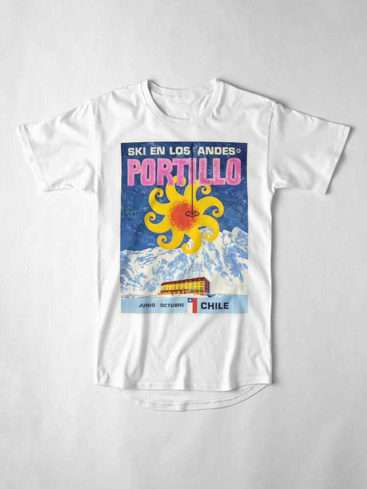 Alternative Ansicht von Portillo, Chile, Ski Poster Longshirt