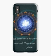 Stargate quote iPhone Case/Skin
