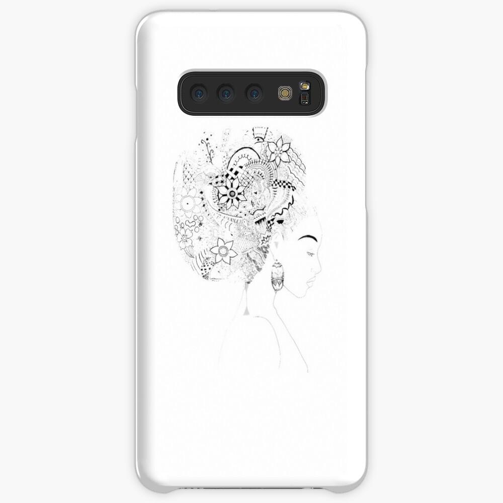 Pensive - An Afro Zentangle Samsung Galaxy Snap Case