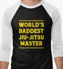 BJJ World's Baddest Jiu-Jitsu Master MMA Men's Baseball ¾ T-Shirt