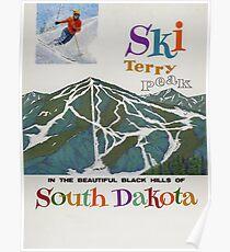 Terry Peak, USA, Ski-Reise-Plakat Poster