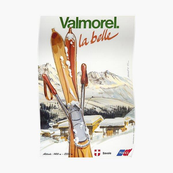 Valmorel, Savoie,Ski Poster Poster