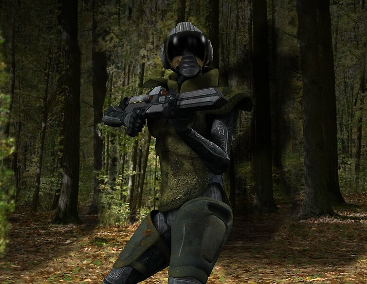 bowman infantry in the forest by grefster
