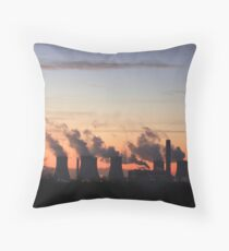 Fiddlers ferry power station  Throw Pillow