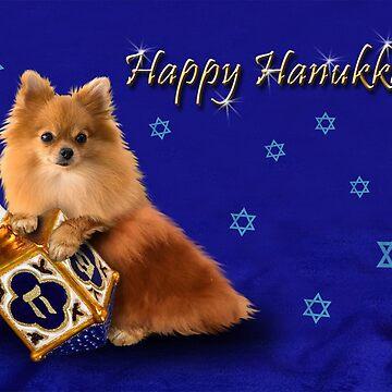 Hanukkah Pomeranian by jkartlife