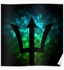 Trident / Poseidon / Percy Jackson Poster