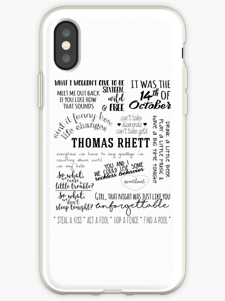 'thomas rhett life changes album lyrics' iPhone Case by groovy-smoothie