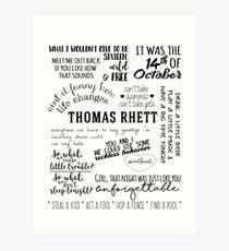 thomas rhett life changes album lyrics Art Print