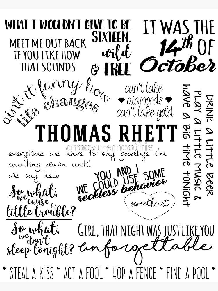 thomas rhett life changes album lyrics | Poster
