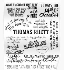 Póster thomas rhett life changes lyrics letra