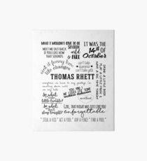 thomas rhett life changes album lyrics Art Board