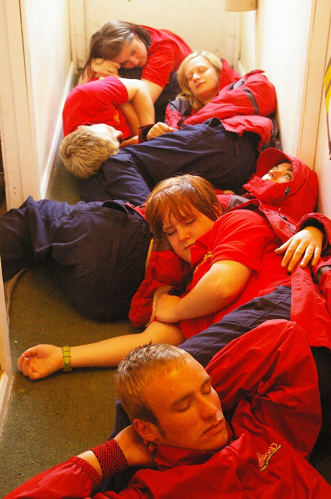 sleeping on the job by Harry Hutchin