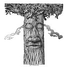 A Mighty Tree Cover b&w by AgeArt