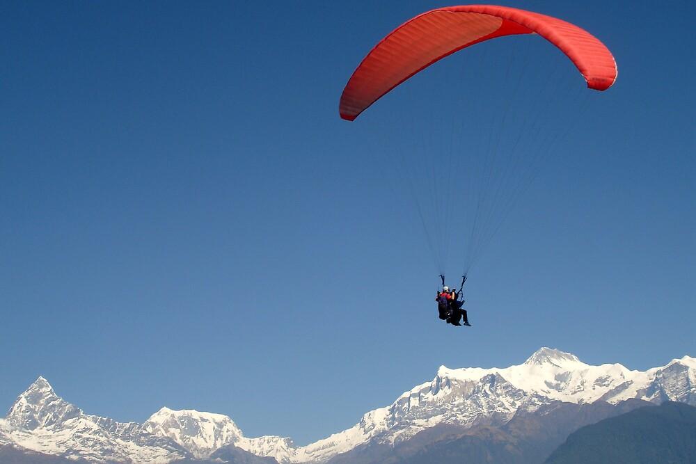 Paragliding in Pokhara by mypics4u