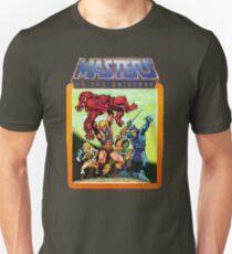 Camiseta unisex Escena de batalla de maestros del universo He-Man