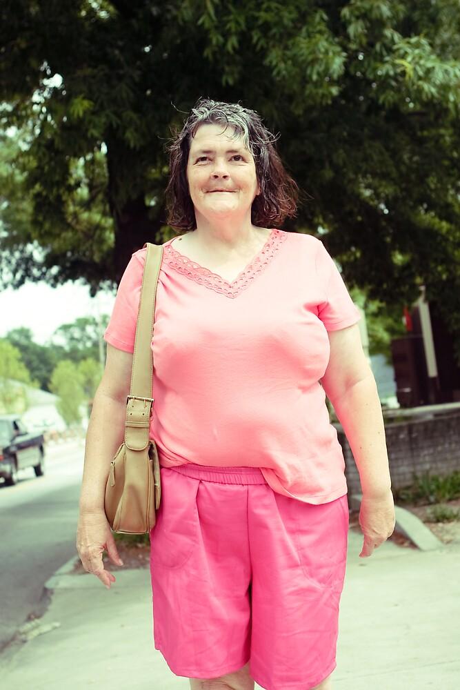 Woman Wearing Pink by bhusullivan