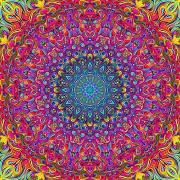 Mandala 7 Color Version A by DooodleGod