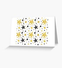 Golden stars Xmass Greeting Card